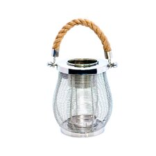 Stainless Steel and Glass Wire Lantern