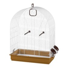 Eliza Bird Cage in White