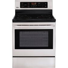 "<strong>LG</strong> 30"" Freestanding Large Capacity 4-Element Electric Range"