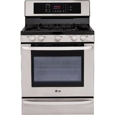 "30"" Freestanding 5-Burner Gas Range with EvenJet Convection Oven"