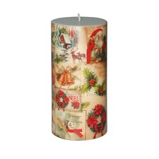 Christmas Santa Pillar Candle (Set of 4)