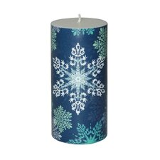 Christmas Snowflake Pillar Candle (Set of 4)