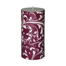 Christmas Scroll Pillar Candle (Set of 4)