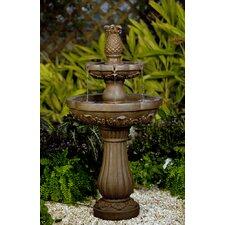 Classic Polyresin and Fiberglass Pineapple Water Fountain