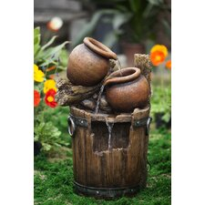 Polyresin and Fiberglass Pot and Urn Water Fountain