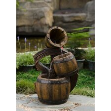 Polyresin and Fiberglass 3 Tier Urns Fountain