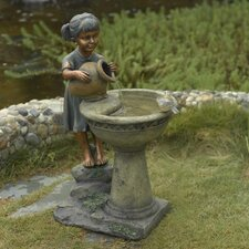 Versando Bird Bath Outdoor Water Fountain