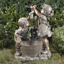 Boy and Girl Water Fountain without Light