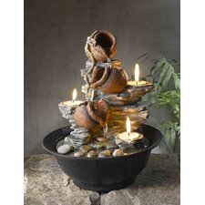 Tavolo Luci Mini Pot Tabletop Fountain with Candle