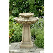 Polyresin and Fiberglass Tiered Bird Bath Fountain