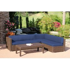 Conversation Sectional 3 Piece Seating Group with Cushions