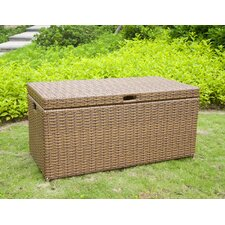 <strong>Wicker Lane</strong> Outdoor Wicker Patio Furniture Storage Deck Box