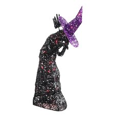<strong>Wicker Lane</strong> Lighted Wire Witch with 35 Mini Light