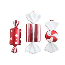 3 Piece Plastic Candy Ornament Set