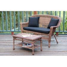 <strong>Wicker Lane</strong> 2 Piece Loveseat Seating Group with Cushion