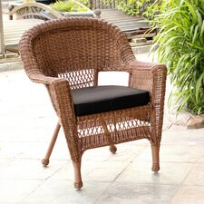 <strong>Wicker Lane</strong> Lounge Chair with Cushion (Set of 2)