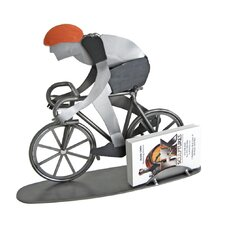 Desk Accessory Bicycle Rider Business Card Holder