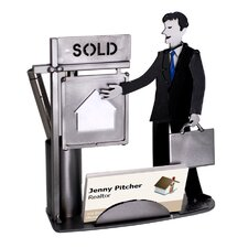 Real Estate Male Business Card Holder