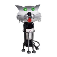Cat Green Eyed Wine Caddy