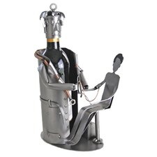 Doctor with Patient Wine Bottle Holder