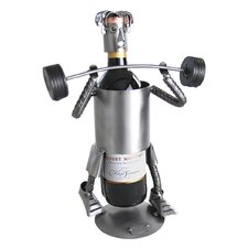 Weight Lifter Wine Caddy