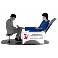 Desk Accessory Doctor Podiatrist Male Business Card Holder