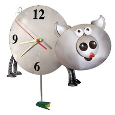 <strong>H & K SCULPTURES</strong> Pig Table Clock