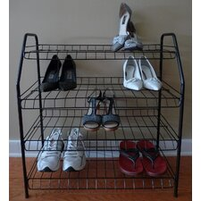 <strong>ATH Home</strong> Contemporary 4 Tier Shoe Rack