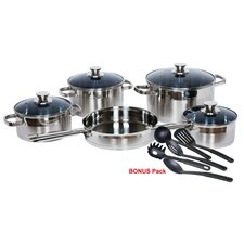 <strong>Gourmet Chef</strong> Stainless Steel 14-Piece Cookware Set