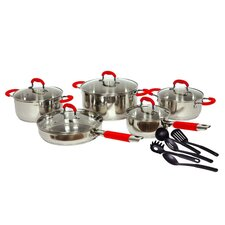 <strong>Gourmet Chef</strong> Classic 2 Stainless Steel 15-Piece Cookware Set