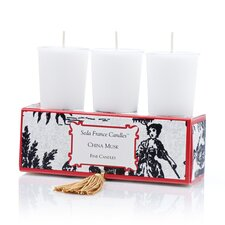 Classic Toile China Musk Votive Candle Set