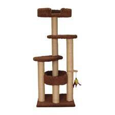 "55"" Three Post Cat Tree with Two Sky Loungers"
