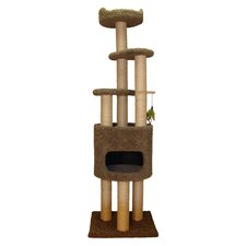 "73"" Condo Cat Tree with Sky Lookout and Booster Base"
