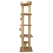 "85.5"" Cat Tower with Sky Lounger"