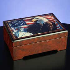 """America the Beautiful"" Musical Jewelry Box"