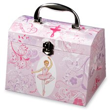 Twirls and Swirls Ballerina Musical Jewelry Box