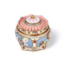 Carousel Hinged Trinket Box
