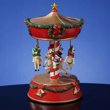 Holiday Snowmen and Reindeer Carousel