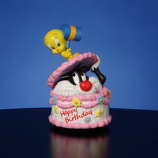 Sylvester and Tweety Happy Birthday Figurine