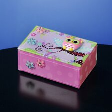 Polka Dot Owl Glass Music Box