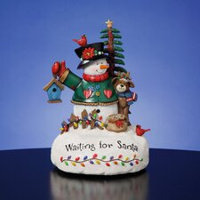 """Waiting for Santa"" Snowman Figurine"