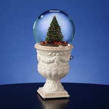 <strong>San Francisco Music Box</strong> Christmas Tree Rotating Train Snow Globe Vase