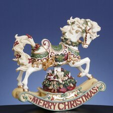 <strong>San Francisco Music Box</strong> Christmas Rhapsody Rocking Horse Figurine