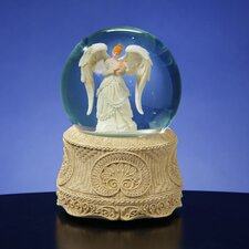 Angel Playing Harp Water Globe
