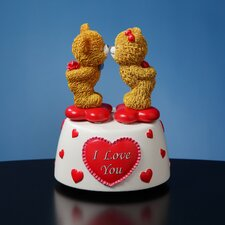 Kissing Bears Animated Musical Figurine