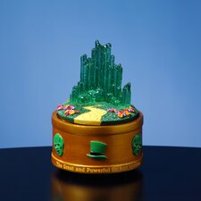 <strong>San Francisco Music Box</strong> The Wizard of Oz Emerald City Rotating Mini Sculpture