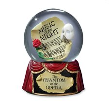 "<strong>San Francisco Music Box</strong> Phantom of the Opera ""Music of the Night"" Stage Water Globe"
