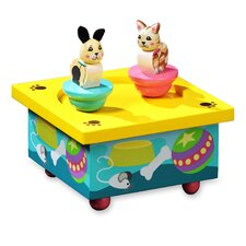 Twirlytunes Kitty and Puppy Music Jewelry Box