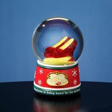 Ruby Slippers Home for the Holidays Water Globe