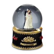 <strong>San Francisco Music Box</strong> Phantom and Christine Rotating Water Globe